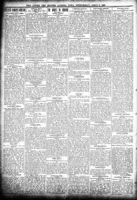 The Algona Upper Des Moines from Algona, Iowa on April 3, 1895 · Page 2