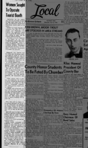 1963 Chamber Creates Tourism Booth
