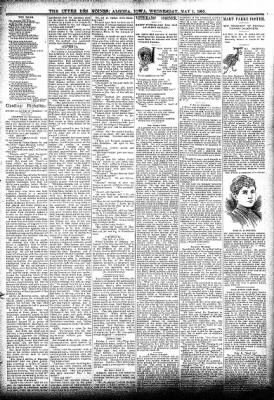 The Algona Upper Des Moines from Algona, Iowa on May 1, 1895 · Page 3