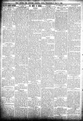 The Algona Upper Des Moines from Algona, Iowa on May 8, 1895 · Page 2