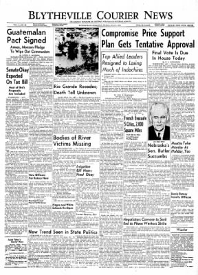 The Courier News from Blytheville, Arkansas on July 2, 1954 · Page 1