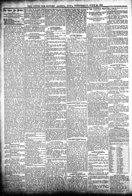 The Algona Upper Des Moines from Algona, Iowa on June 26, 1895 · Page 4