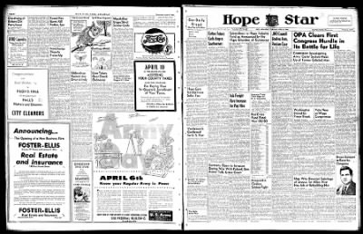 Hope Star from Hope, Arkansas on April 4, 1946 · Page 1