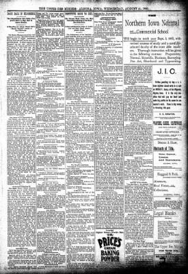 The Algona Upper Des Moines from Algona, Iowa on August 21, 1895 · Page 5