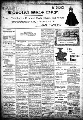 The Algona Upper Des Moines from Algona, Iowa on October 9, 1895 · Page 8