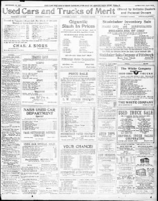 pittsburgh daily post from pittsburgh pennsylvania on december 10 Oldsmobile 1908 Advertisement pittsburgh daily post from pittsburgh pennsylvania on december 10 1922 page 37