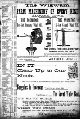 The Algona Upper Des Moines from Algona, Iowa on November 20, 1895 · Page 9