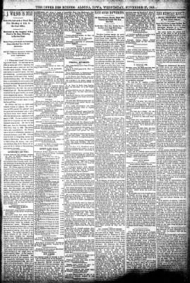The Algona Upper Des Moines from Algona, Iowa on November 27, 1895 · Page 5