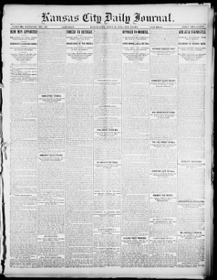 Kansas City Journal From Kansas City Missouri On April 25 1896 Page 1