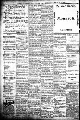 The Algona Upper Des Moines from Algona, Iowa on January 29, 1896 · Page 8