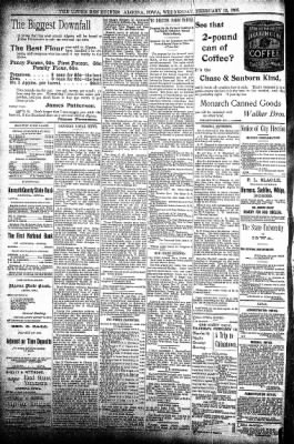 The Algona Upper Des Moines from Algona, Iowa on February 12, 1896 · Page 8