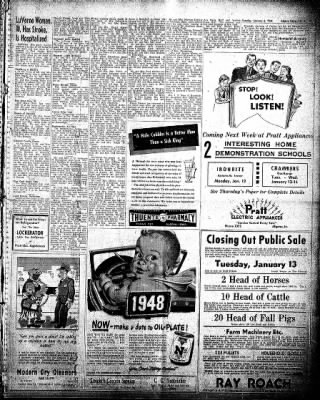 The Algona Upper Des Moines from Algona, Iowa on January 6, 1948 · Page 11