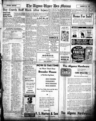 The Algona Upper Des Moines from Algona, Iowa on January 20, 1948 · Page 9