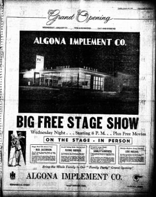 The Algona Upper Des Moines from Algona, Iowa on January 20, 1948 · Page 11