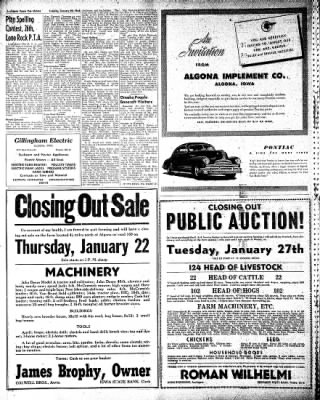 The Algona Upper Des Moines from Algona, Iowa on January 20, 1948 · Page 14