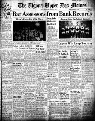 The Algona Upper Des Moines from Algona, Iowa on February 3, 1948 · Page 1