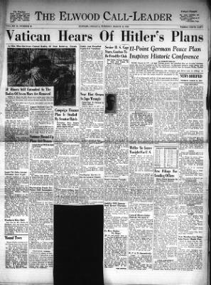 The Call-Leader from Elwood, Indiana on March 19, 1940 · Page 1