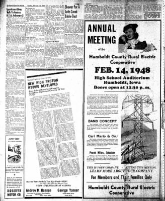 The Algona Upper Des Moines from Algona, Iowa on February 10, 1948 · Page 14