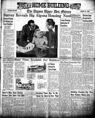 The Algona Upper Des Moines from Algona, Iowa on March 23, 1948 · Page 9
