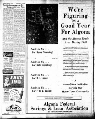 The Algona Upper Des Moines from Algona, Iowa on March 23, 1948 · Page 12