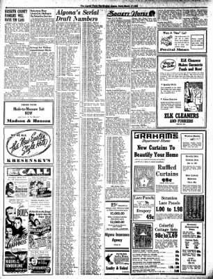 The Algona Upper Des Moines from Algona, Iowa on March 17, 1942 · Page 4