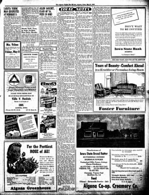 The Algona Upper Des Moines from Algona, Iowa on May 5, 1942 · Page 5