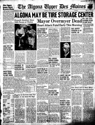 The Algona Upper Des Moines from Algona, Iowa on June 9, 1942 · Page 1