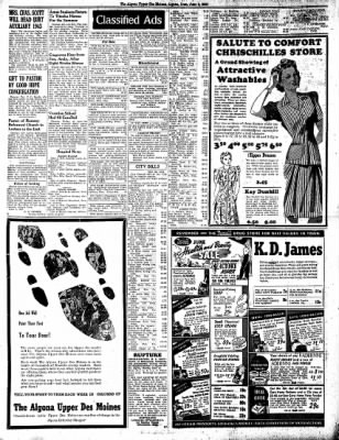 The Algona Upper Des Moines from Algona, Iowa on June 9, 1942 · Page 8