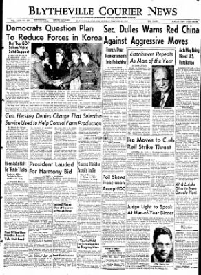 The Courier News from Blytheville, Arkansas on December 29, 1953 · Page 1