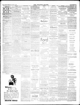 The Decatur Daily Review from ,  on September 3, 1952 · Page 21