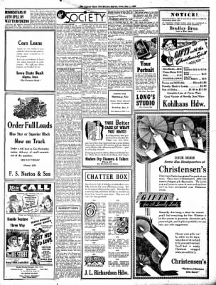 The Algona Upper Des Moines from Algona, Iowa on December 1, 1942 · Page 4