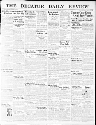 the decatur daily review from decatur illinois on october 17 1931 Professional Resume for Security Officer the decatur daily review from decatur illinois on october 17 1931 page 1