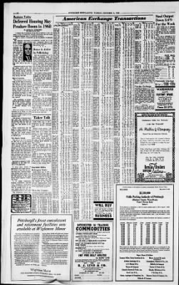 Pittsburgh Post Gazette From Pittsburgh Pennsylvania On December 6 1966 Page 34