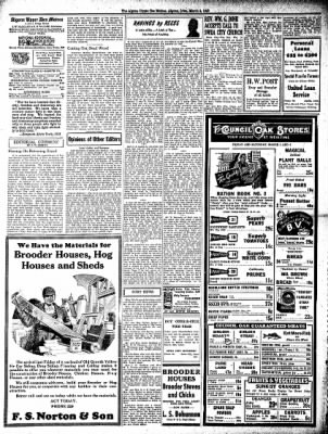 The Algona Upper Des Moines from Algona, Iowa on March 4, 1943 · Page 6