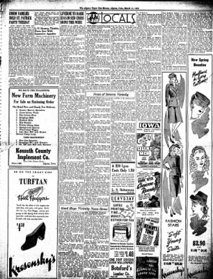 The Algona Upper Des Moines from Algona, Iowa on March 11, 1943 · Page 5