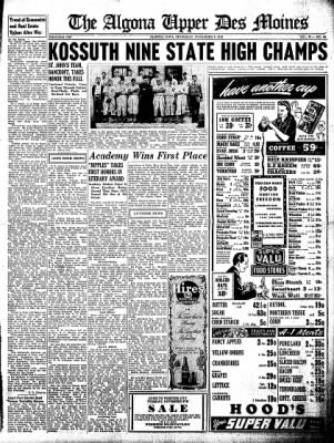 The Algona Upper Des Moines from Algona, Iowa on November 4, 1943 · Page 9