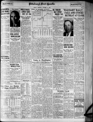 Pittsburgh Post-Gazette from Pittsburgh, Pennsylvania on October 8