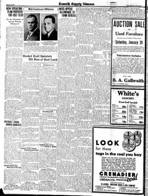 Kossuth County Advance from Algona, Iowa on January 26, 1933 · Page 8