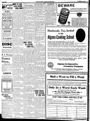 Kossuth County Advance from Algona, Iowa on March 2, 1933 · Page 10