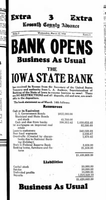 Kossuth County Advance from Algona, Iowa on March 16, 1933 · Page 3