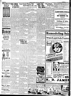 Kossuth County Advance from Algona, Iowa on April 27, 1933 · Page 2