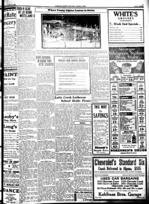 Kossuth County Advance from Algona, Iowa on June 15, 1933 · Page 11