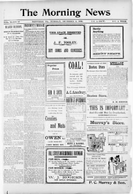 The Danville Morning News from Danville, Pennsylvania on December 6, 1898 · Page 1
