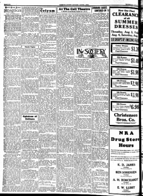 Kossuth County Advance from Algona, Iowa on August 3, 1933 · Page 6