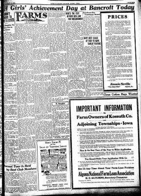 Kossuth County Advance from Algona, Iowa on August 10, 1933 · Page 9
