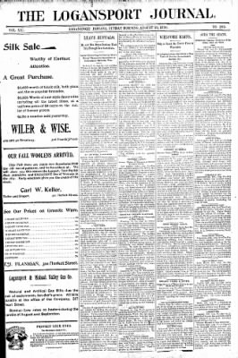 Logansport Pharos-Tribune from Logansport, Indiana on August 30, 1896 · Page 1