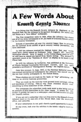 Kossuth County Advance from Algona, Iowa on September 7, 1933 · Page 8