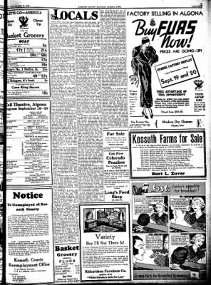 Kossuth County Advance from Algona, Iowa on September 14, 1933 · Page 5