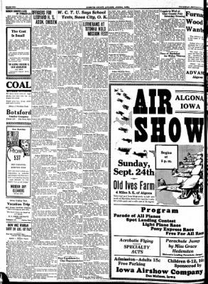 Kossuth County Advance from Algona, Iowa on September 21, 1933 · Page 2