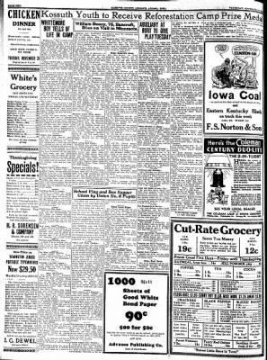 Kossuth County Advance from Algona, Iowa on November 23, 1933 · Page 2